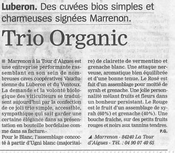 La Marseillaise les vins biologiques Organic Luberon