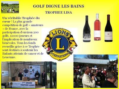 Tournoi de golf Lions club de Digne