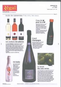 Regal Coffret Sonia Ezgulian vins du Luberon cépages chardonnay et syrah