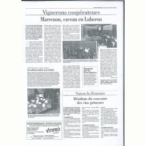 Le Vaucluse Agricole - 011109 Inauguration de l'espace de vente