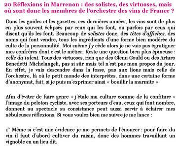 blog vins Berthomeau 20 réflexions in Marrenon