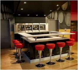 Bar à vins St Quentin Chai N°5 vins du Luberon et Ventoux