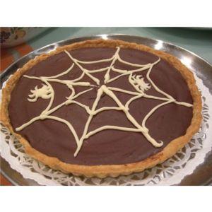 Tarte Halloween citrouille chocolat cannelle